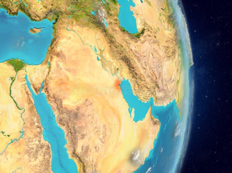 Baanmening van Koeweit in rood royalty-vrije illustratie