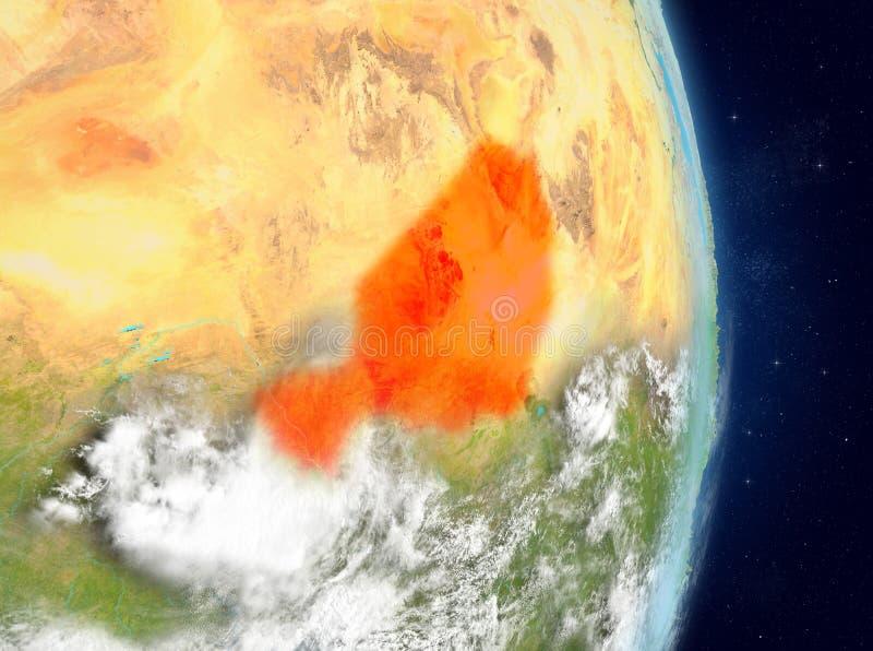 Baanmening van Niger in rood royalty-vrije illustratie