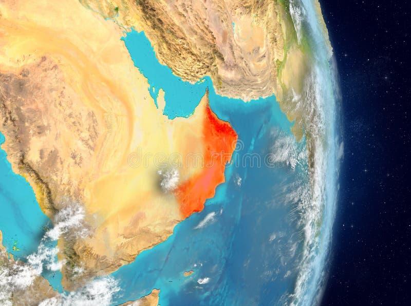 Baanmening van Oman in rood royalty-vrije illustratie