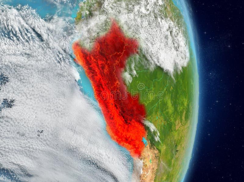 Baanmening van Peru in rood vector illustratie