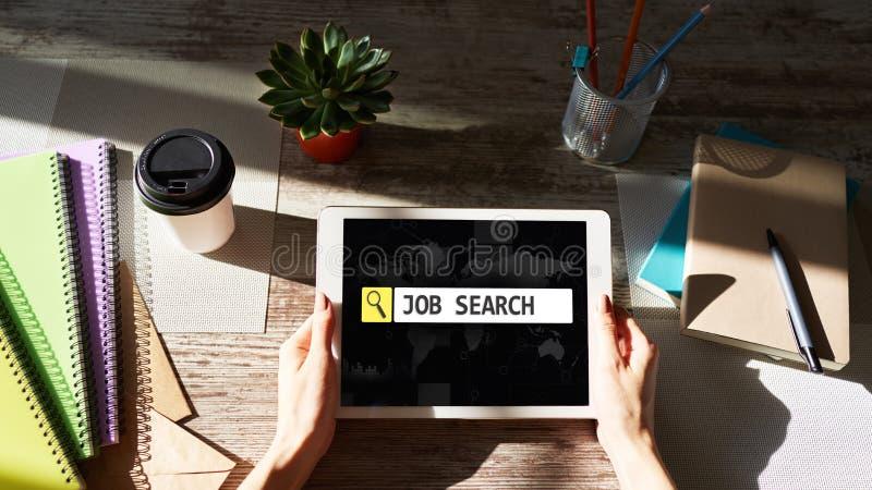 Baanonderzoek, Werkgelegenheid, Rekruterings en u-beheersconcept stock fotografie