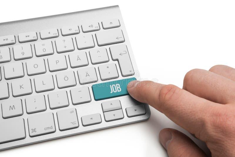 Download Baanwoord op toetsenbord stock foto. Afbeelding bestaande uit assist - 54084146