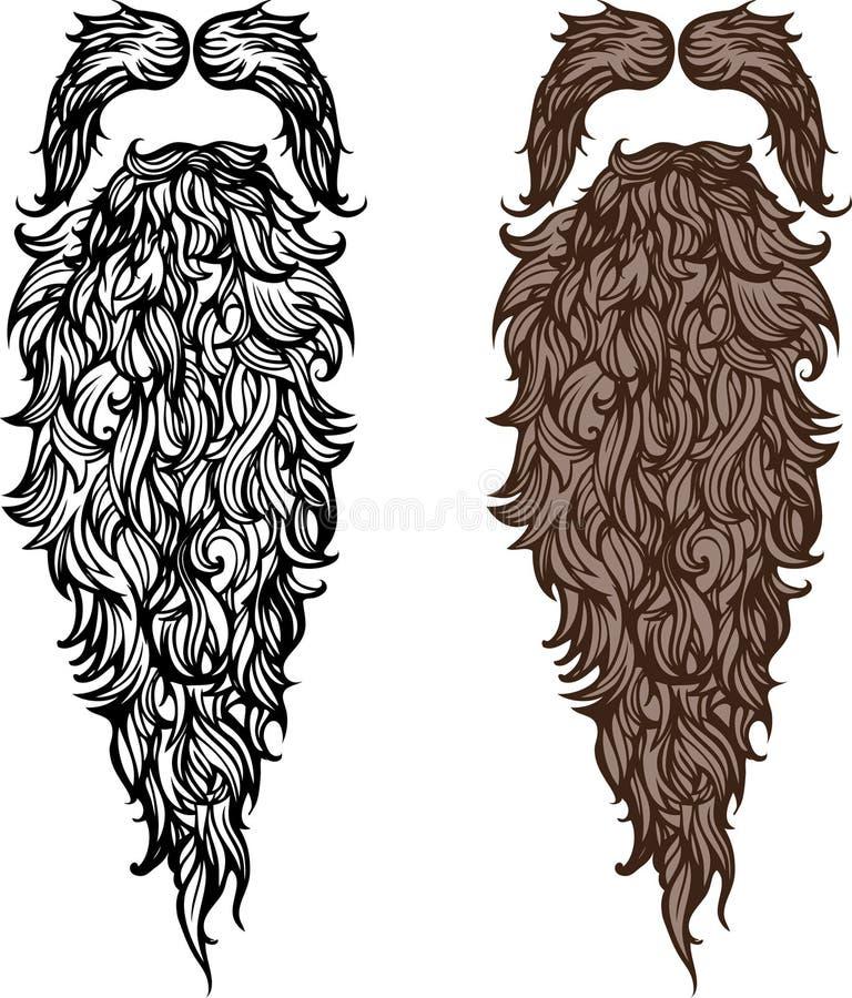 Baard en snor royalty-vrije illustratie