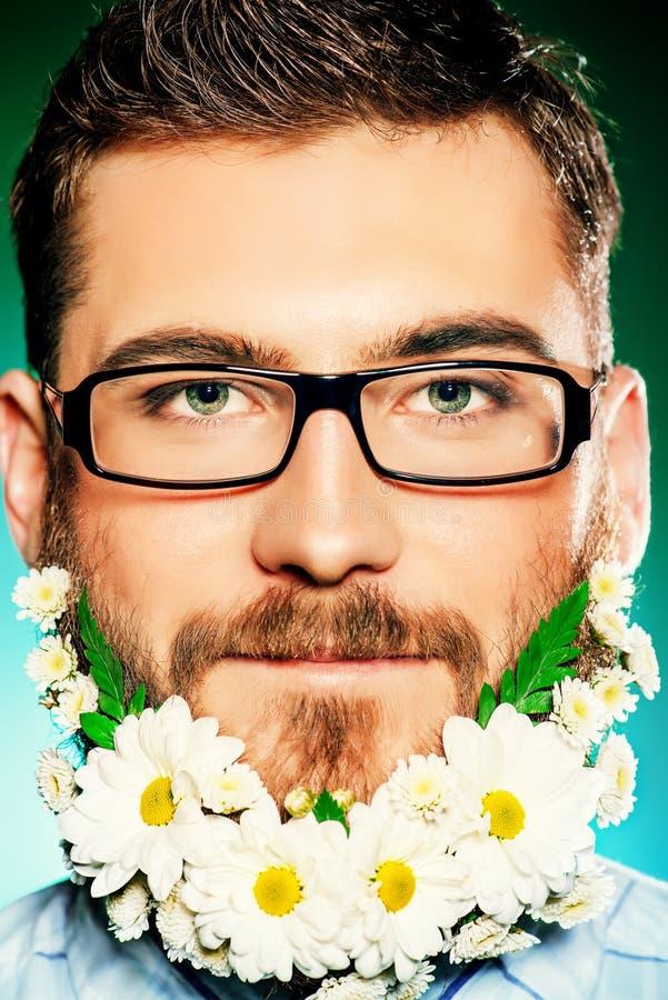 Baard van bloemen royalty-vrije stock foto