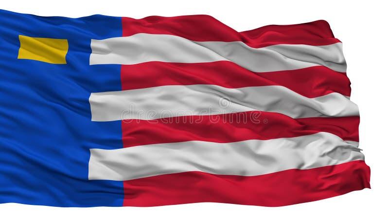 Baarle Nassau City Flag, Netherlands, Isolated On White Background. Baarle Nassau City Flag, Country Netherlands, Isolated On White Background stock illustration