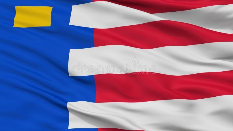 Baarle Nassau City Flag, Netherlands, Closeup View. Baarle Nassau City Flag, Country Netherlands, Closeup View royalty free illustration