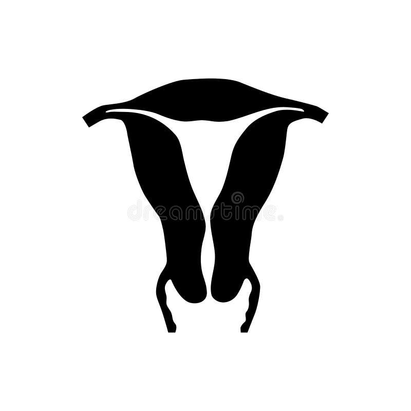 Baarmoederpictogram in eenvoudige stijl vector illustratie