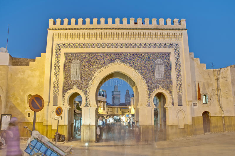 bab πύλη jeloud Μαρόκο του Fez bou στοκ φωτογραφία με δικαίωμα ελεύθερης χρήσης