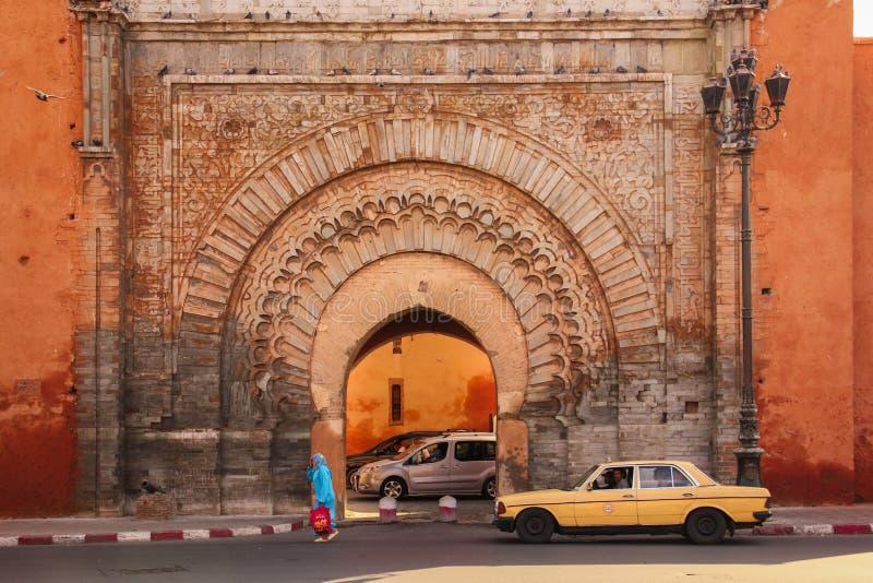 Bab Agnaou. Marrakesh. Morocco. Bab Agnaou. Gate Almohad dynasty. Marrakesh. Morocco royalty free stock image