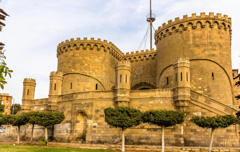 Bab al-Azhab, former main gate of the citadel - Cairo. Egypt royalty free stock photo