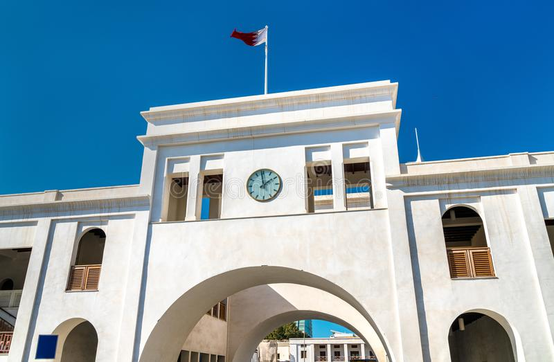 Bab Al Bahrain, a historical city gate of Manama, the capital of Bahrain stock images