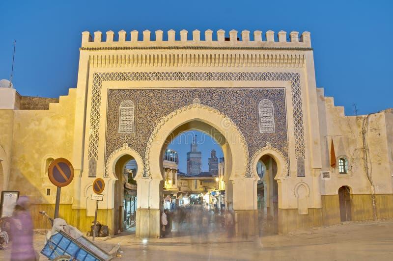 bab bou fezu bramy jeloud Morocco zdjęcie royalty free