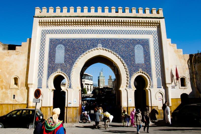 Bab Bou Jeloud - Fez stock foto's