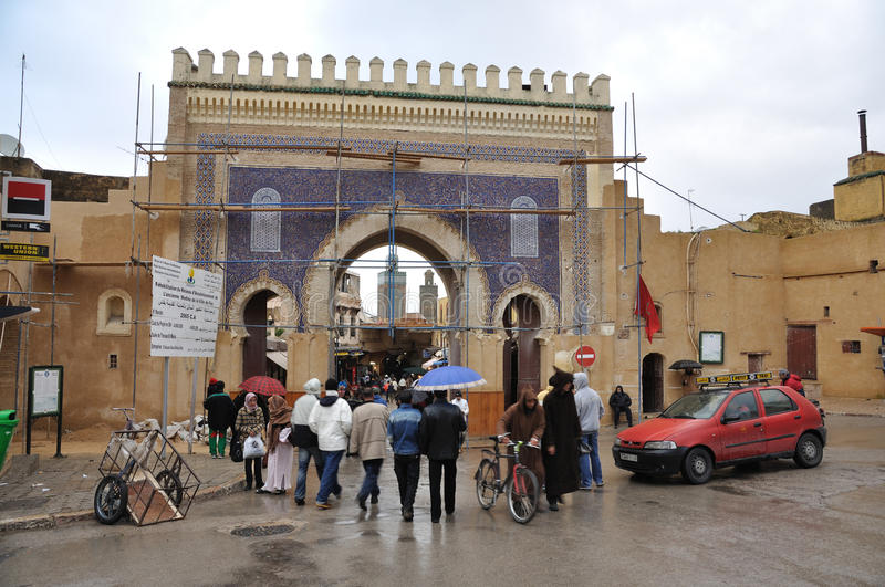 Download Bab Boujeloud Gate In Fes, Morocco Editorial Photography - Image: 17948397