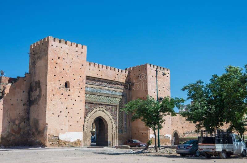 Bab el-Khemis Gate en Meknes, Marruecos foto de archivo libre de regalías