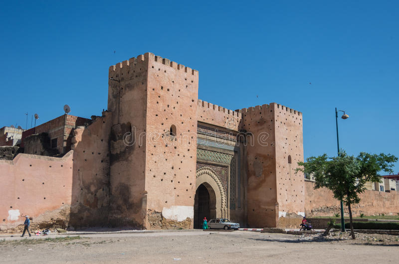 Bab el-Khemis Gate in Meknes fotografia stock