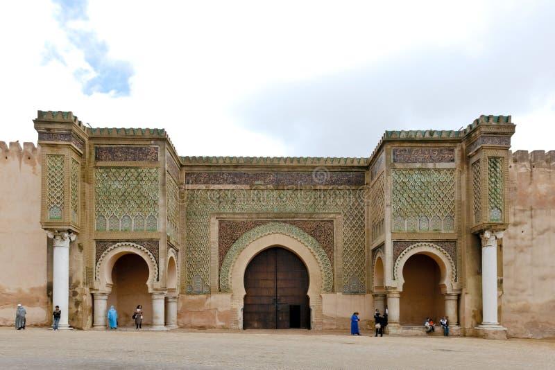 Bab el-Mansour Gate Meknes, Morocco royalty free stock photo