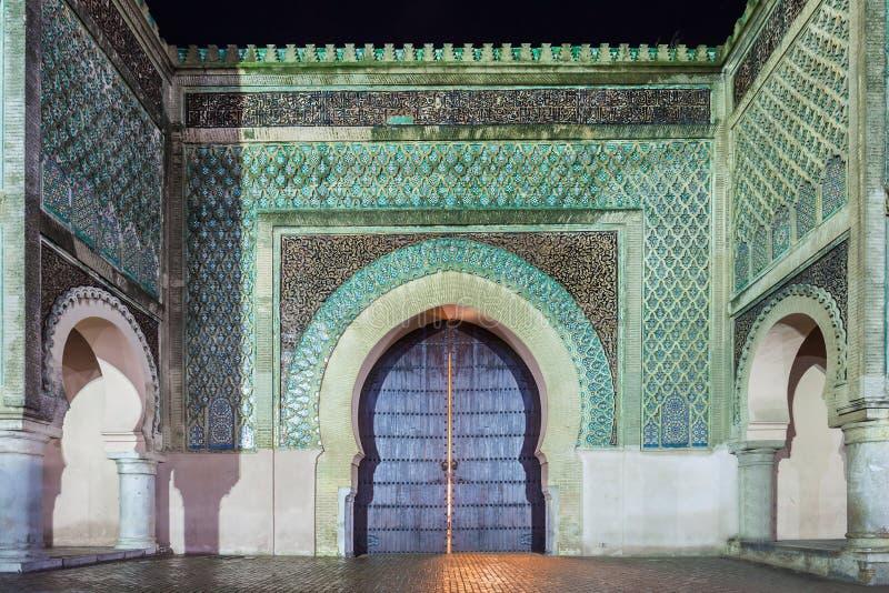 Bab Mansour Gate royaltyfria bilder