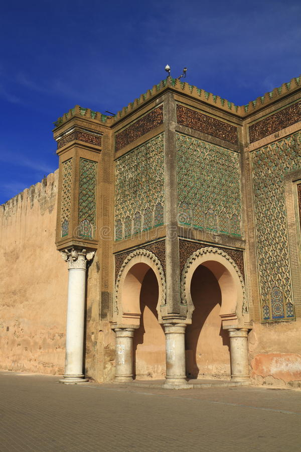 Bab Mansour. In Meknes, Morocco stock photos