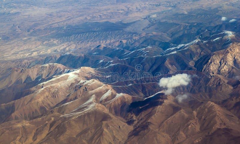 The Baba Mountain range of the Hindu Kush between Kabul and Kandahar stock photo