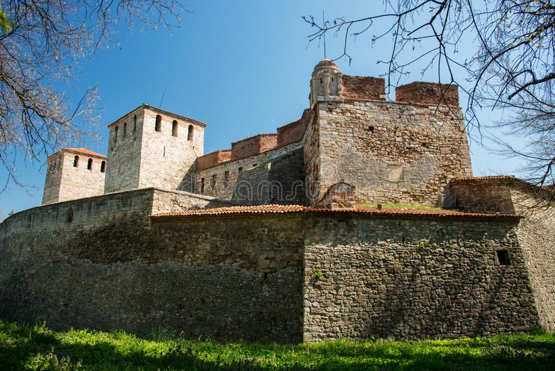 Baba Vida - alte mittelalterliche Festung in Vidin, in nordwestlichem Bulgarien Reise zu Bulgarien-Konzept stockbild
