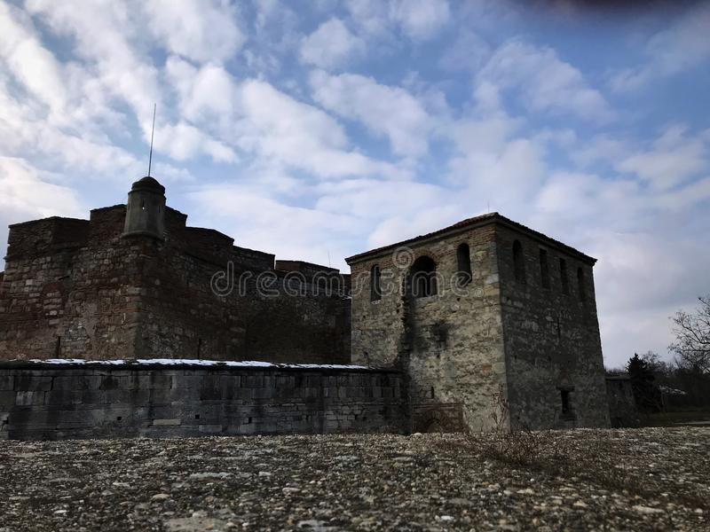 Baba Vida Fortress Vidin, Bulgarien royaltyfri fotografi