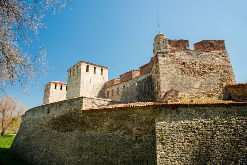 Baba Vida - gammal medeltida fästning i Vidin, i nordvästlig Bulgarien Lopp till Bulgarienbegreppet royaltyfria bilder