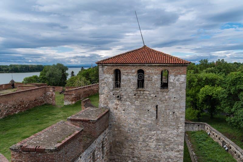 Baba Vida ist eine mittelalterliche Festung in Vidin in nordwestlichem Bulgarien und im Primärmarkstein der Stadt lizenzfreie stockfotografie