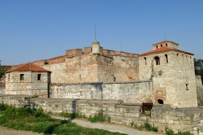Baba Vida stone fortress in Vidin, Bulgaria on Danube river bank stock images