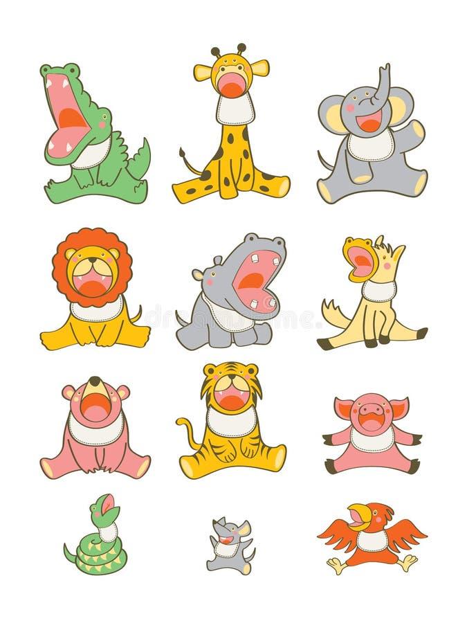 Babador animal do bebê ilustração royalty free