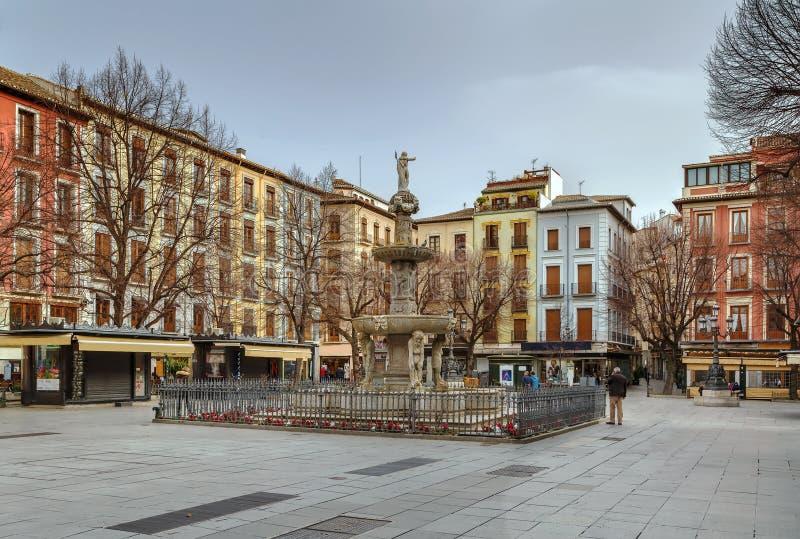 Babador Rambla da plaza, Granada, Espanha fotos de stock royalty free