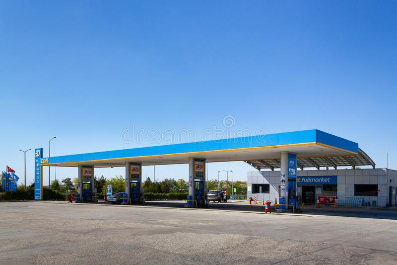 Istanbul-Edirne highway Babaeski Opet gas station royalty free stock photo