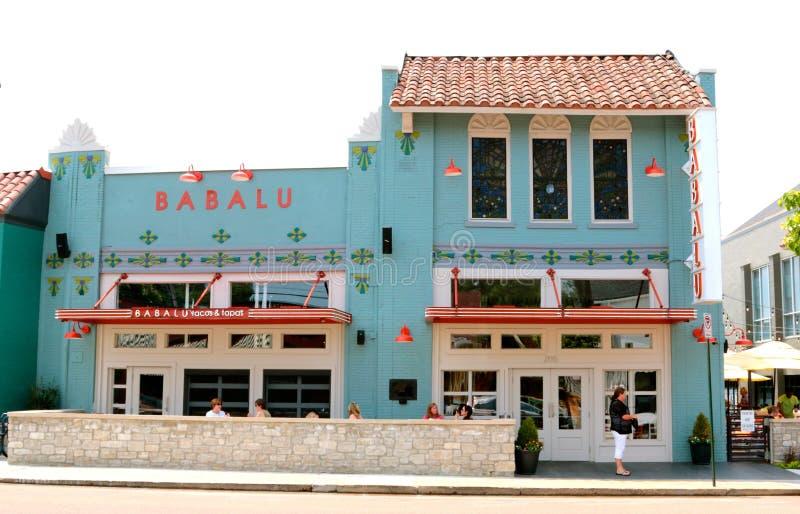 Babalu Tacos i Tapas, Overton kwadrat Memphis fotografia stock