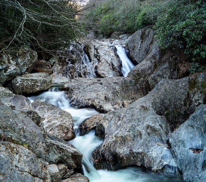 Babbling Brook Falls. Appalachian Mountains, North Carolina royalty free stock image