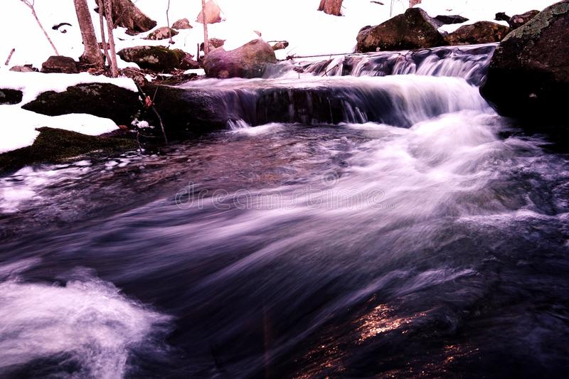 Babbling Brook 2. A Brook in the winter royalty free stock photos