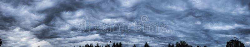 Babbling sky. Babbling dark blue sky before rain stock photography