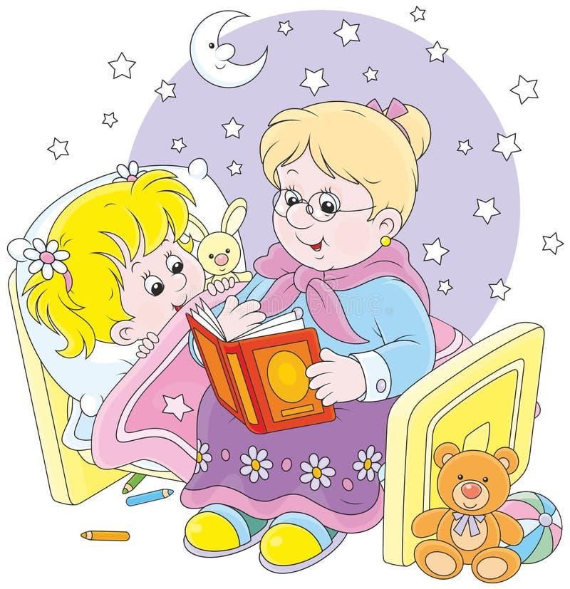 Babci i wnuczki czytelnicze bajki ilustracja wektor