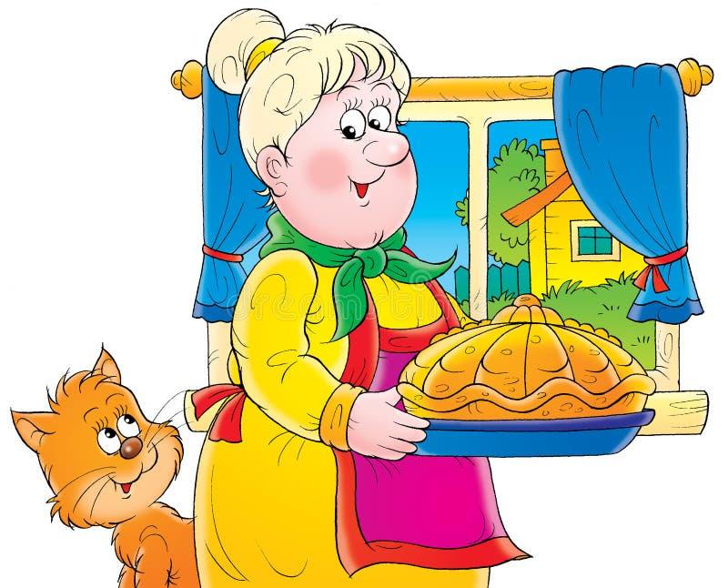 babcia ilustracja wektor