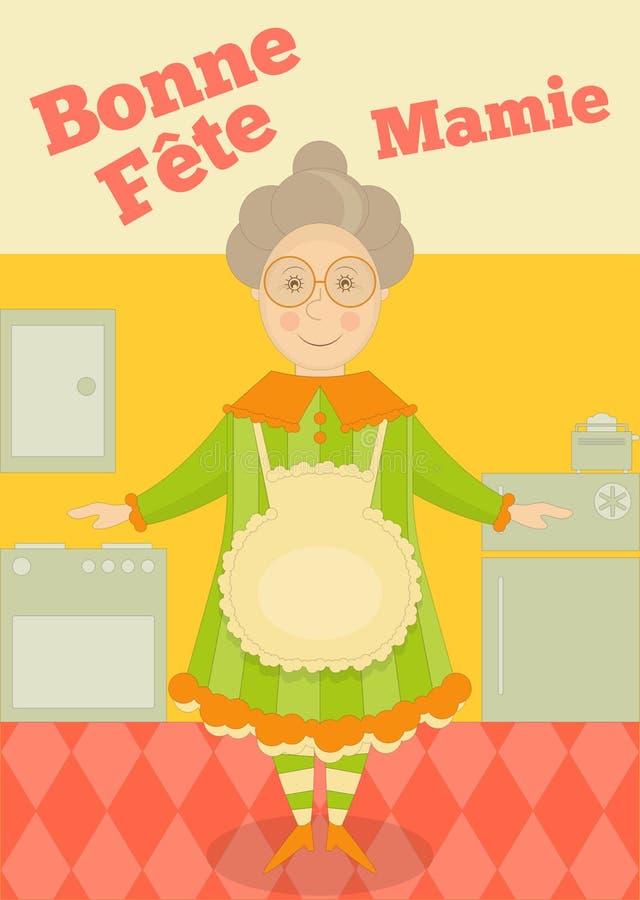 Babcia dzień Francja ilustracja wektor
