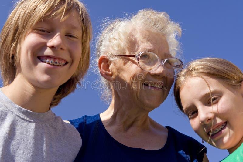 babcia dziecka obrazy royalty free
