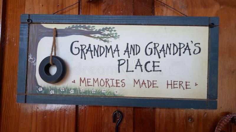 Babcia x27 i grandpa&; s miejsce obraz stock