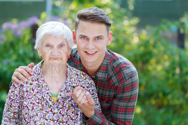 Babcia i wnuk zdjęcia stock