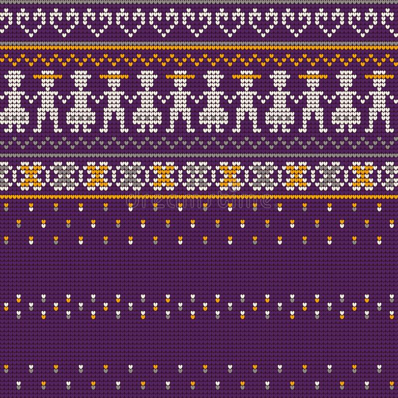 Babcia puloweru dziania Brzydcy wzory obrazy royalty free