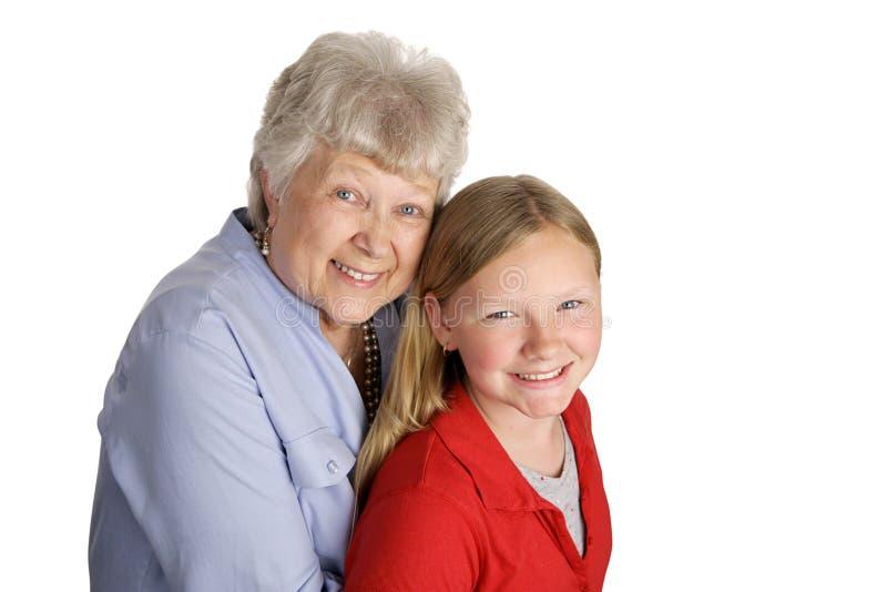 babcia wnuczki fotografia stock
