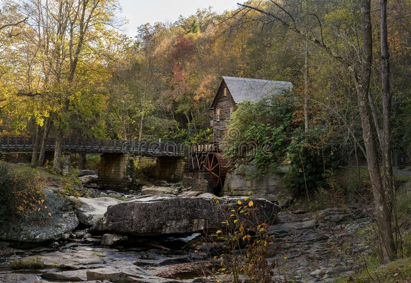 Babcock Mahlgutmühle in West Virginia stockfoto