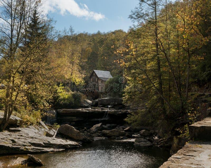Babcock Mahlgutmühle in West Virginia stockfotos