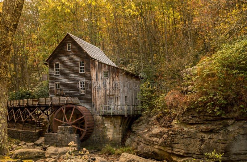 Babcock Mahlgutmühle in West Virginia lizenzfreie stockbilder