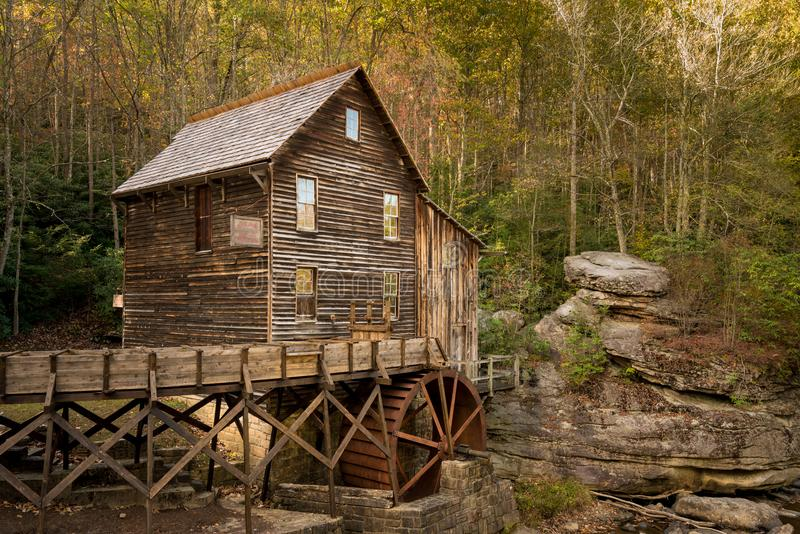 Babcock Mahlgutmühle in West Virginia lizenzfreie stockfotografie