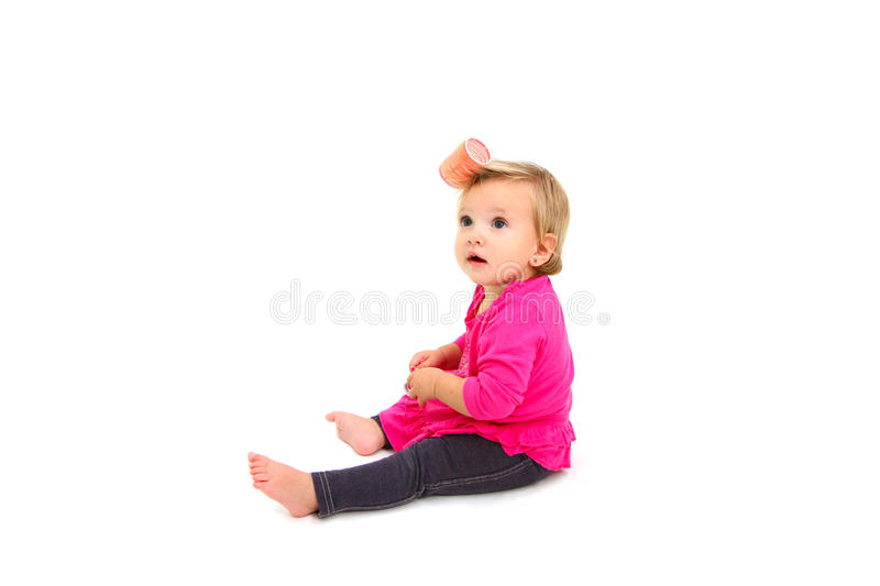 Download Babe And Curlers Stock Photos - Image: 27479763