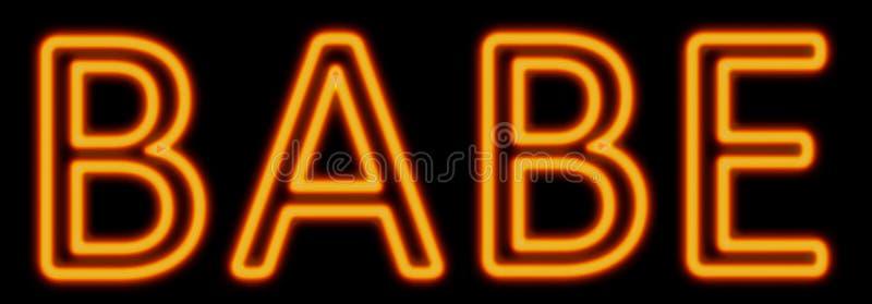 Babe neon sign stock illustration